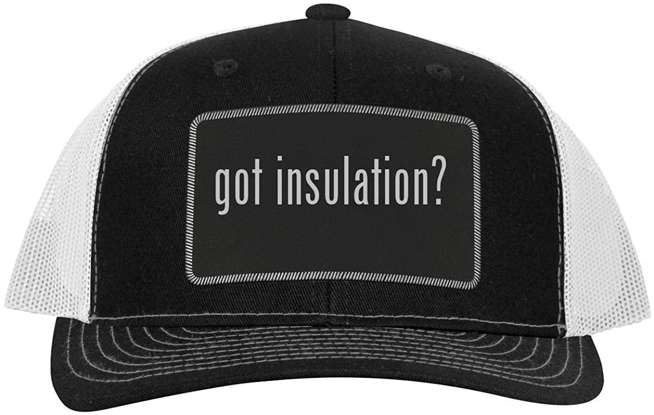One Legging it Around got Insulation? - Leather Black Patch Engraved Trucker Hat