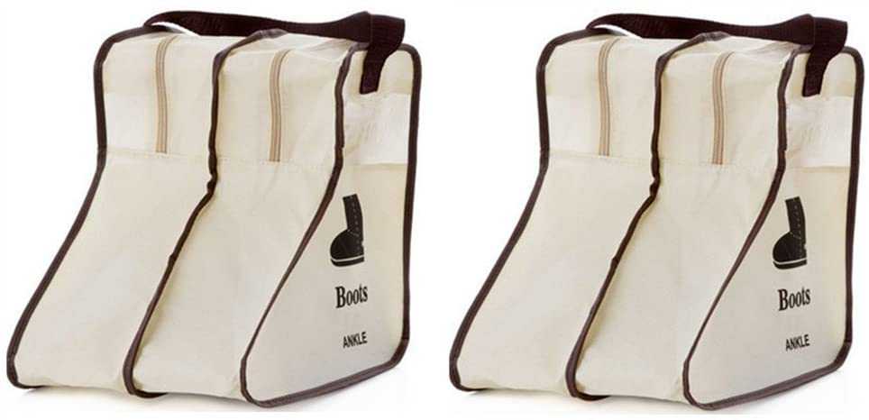 Nizzco Portable 2 Packs,Short Boots Storage/Protector Bag,Boots Cover(Gream)