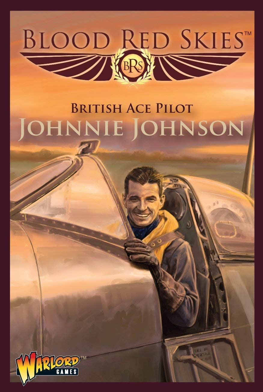 Blood Red Skies British Ace Pilot Johnnie Johnson 1:200 Spitfire WWII Mass Air Combat War Game