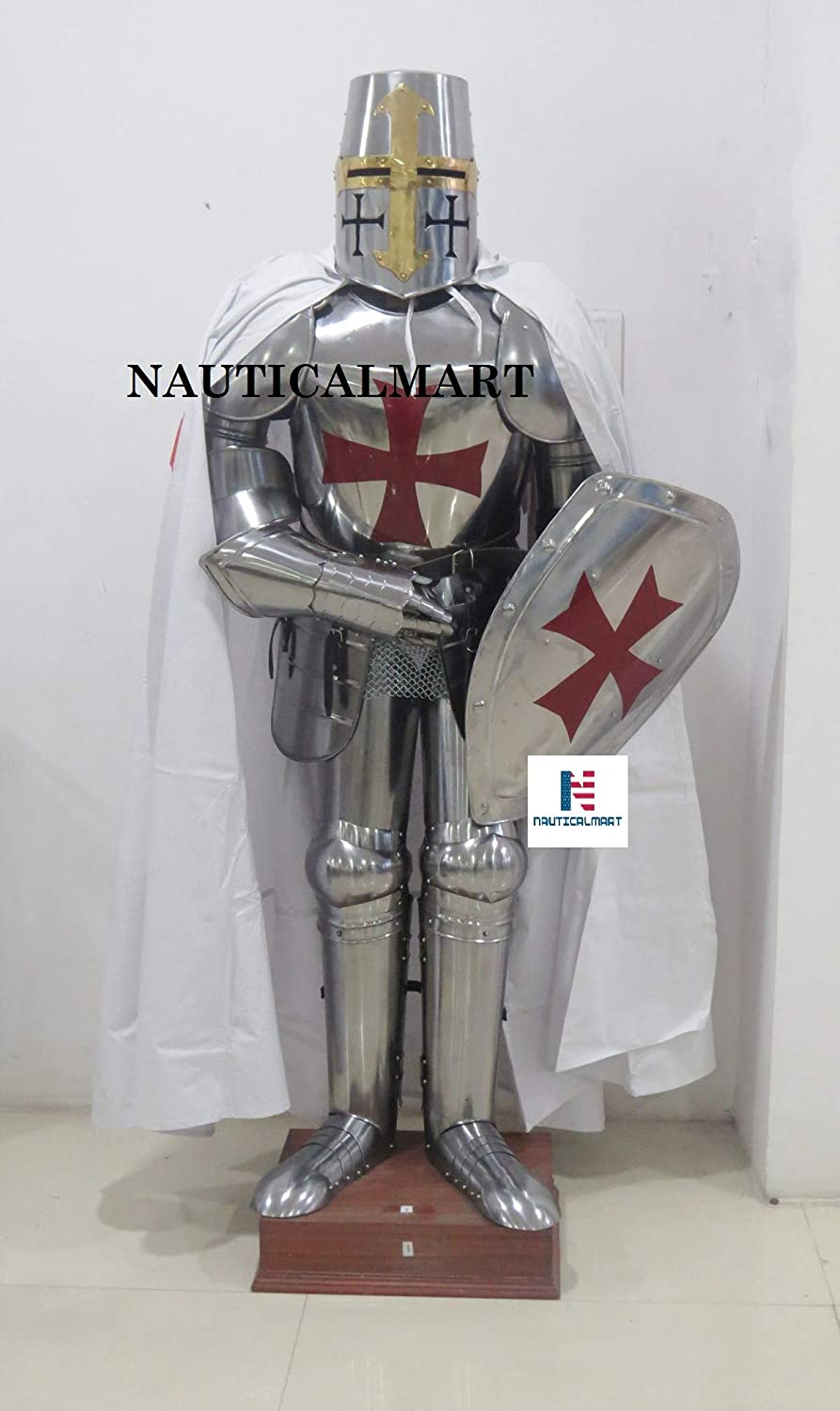 NAUTICALMART Medieval Knight Suit of Armor Crusader Full Body Armor Halloween Costume