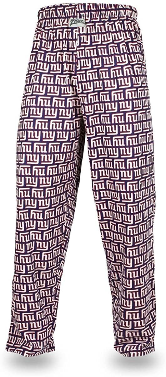 Zubaz NFL New York Giants Men's Team Logo Print Comfy Jersey Pants, Large, Blue