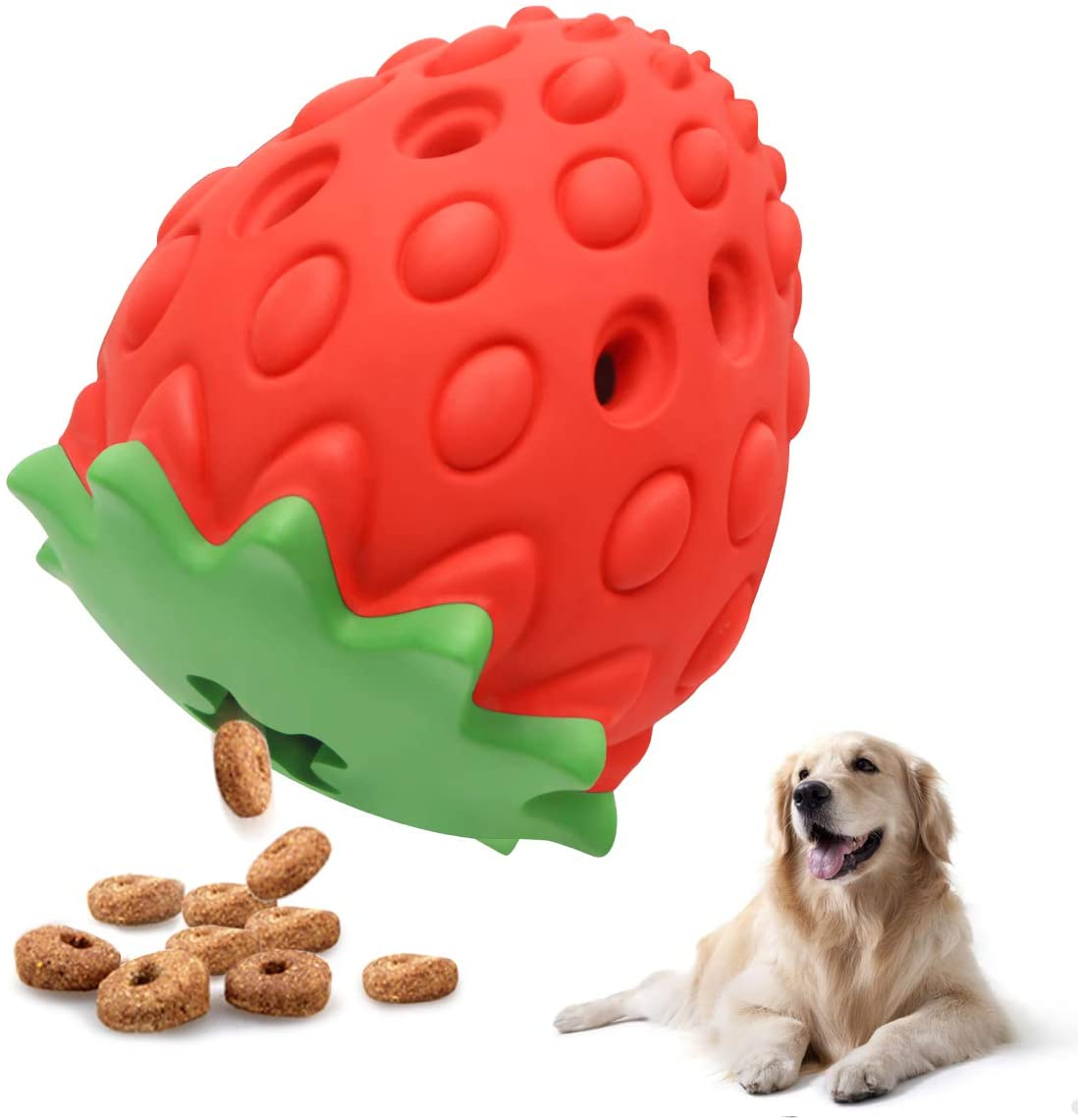 ROYALITA Strawberry Dog Toys for Aggressive chewers Large Breed, Dog Dental Toy Tough Durable Dog Toys Indestructible for Small/Medium/Large Dogs, Puppy Chew Toys for Retrieving and Training