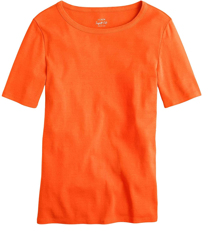 J.Crew Slim Perfect T-Shirt Brilliant Sunset XXS
