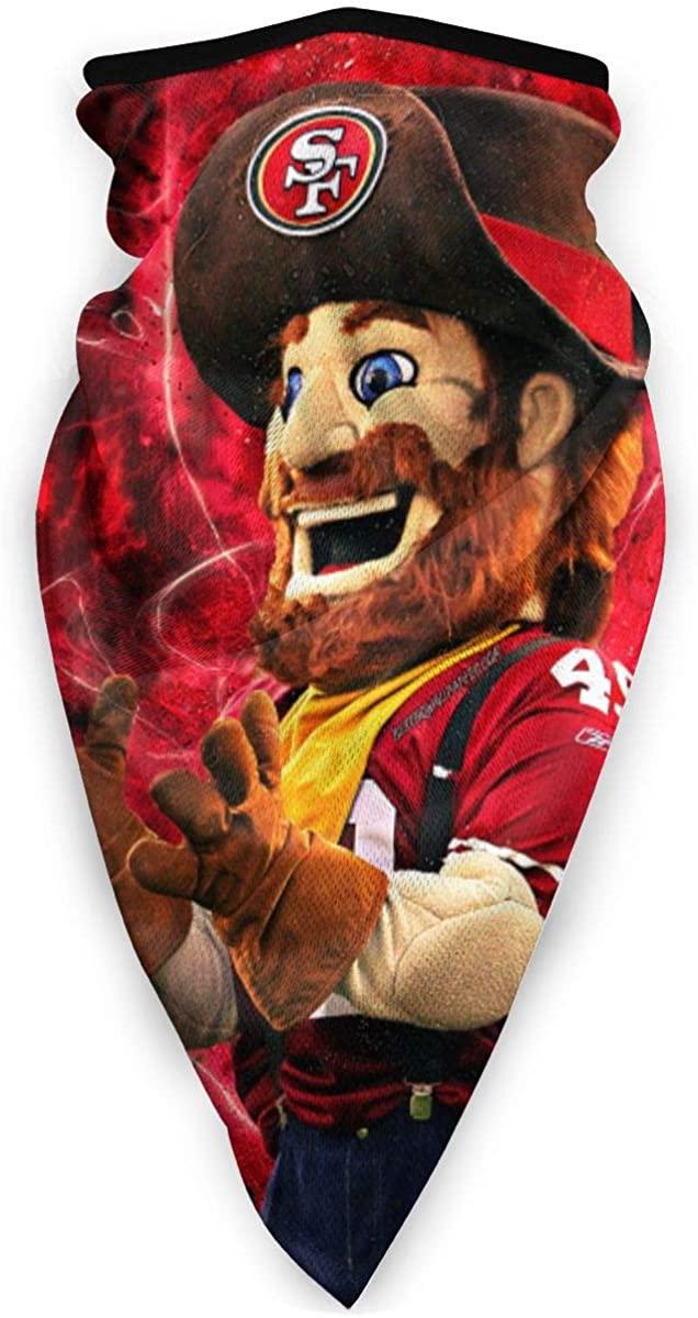 San Francisco 4-9ers Football Fans Sourdough Sam Mascot Sports Neck Warmer Decorate Face Cover