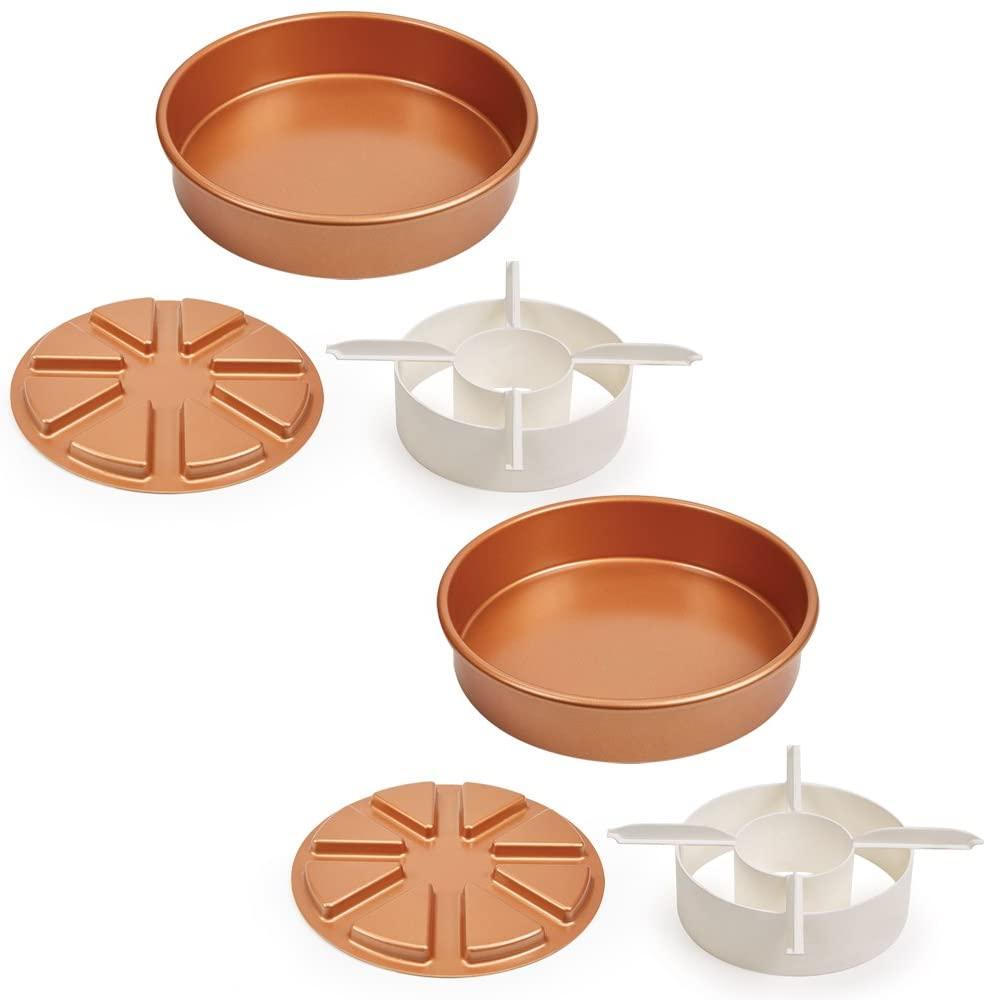 Copper Chef Perfect Cake Pan 3 PC set BOGO- (2) 9 X 9