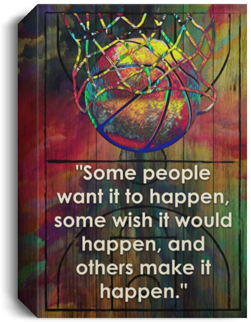 BinLax Some People Want It to Happen Inspirational Gallery Wrapped Framed Canvas Prints - Unframed Poster, 32