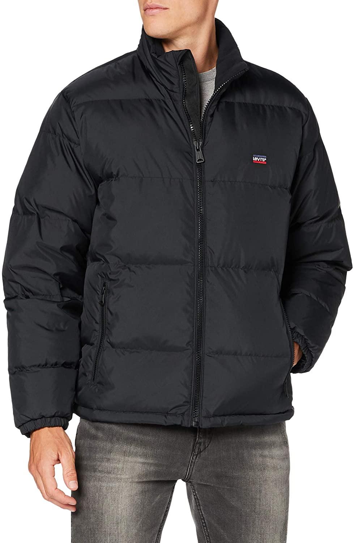 Levis Mens Fillmore Short Puffer Jacket, Black, XL