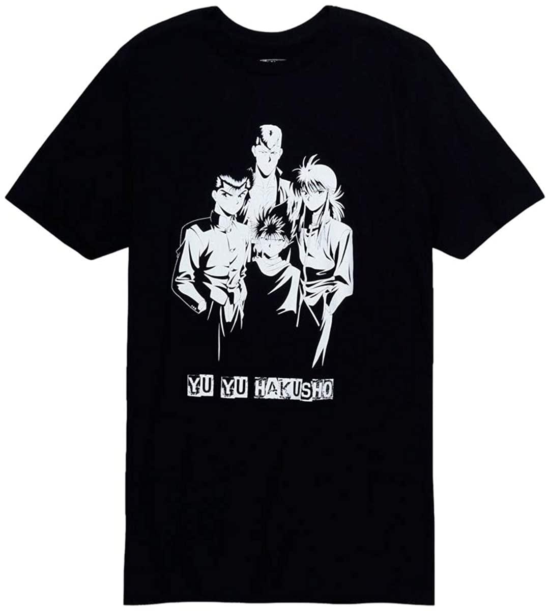 Hot Topic Yu Yu Hakusho Black & White Group T-Shirt