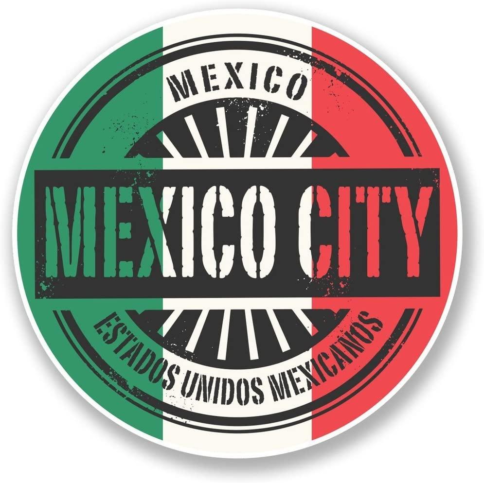 2 x 10cm/100mm Mexico City Vinyl Sticker Decal Laptop Travel Luggage Car iPad Sign Fun #6751