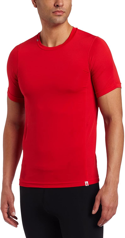 New Balance Men's Compression Crew Neck Short Sleeve Undershirt