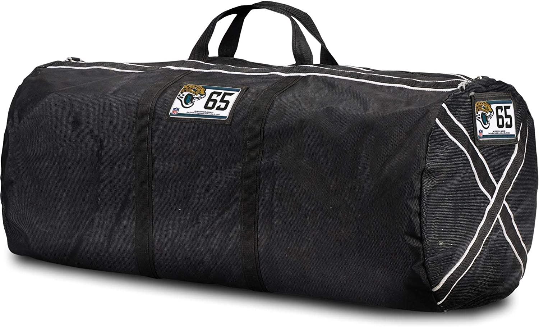 Brandon Linder Jacksonville Jaguars Player-Issued #65 Black Equipment Bag from the 2018 NFL Season - NFL Game Used Items