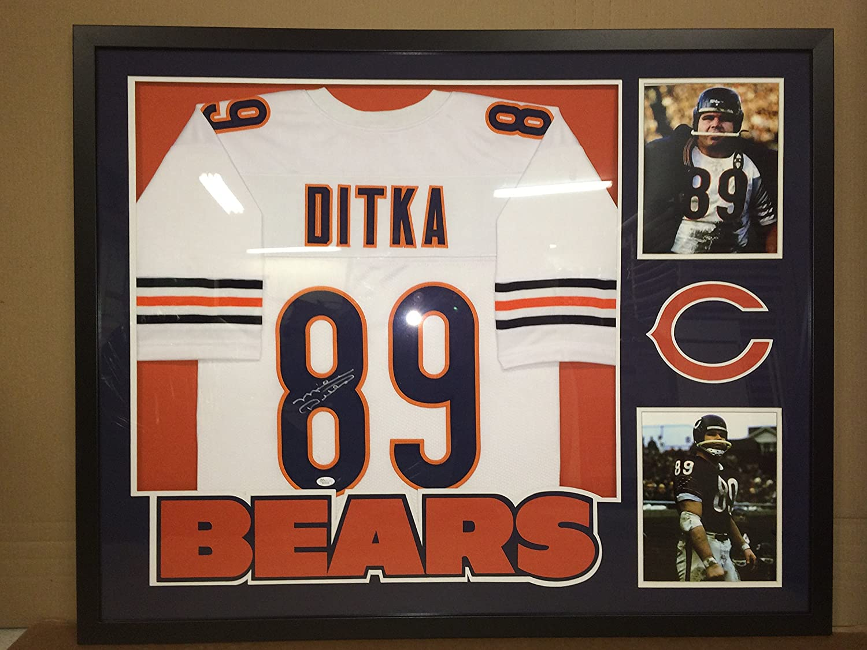 Mike Ditka Autographed Custom Framed Chicago Bears Jersey JSA COA