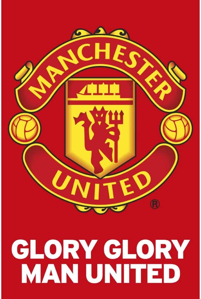 Manchester United - Glory Glory Team Crest Poster (24 x 36 inches)