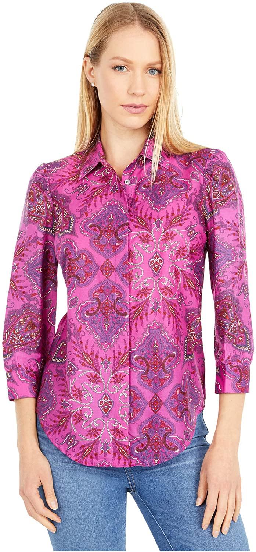 J.Crew Serena Puff Sleeve Shirt in Liberty Paisley Pink/Purple 12