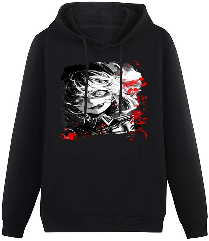 zhongmin Anime & Youjo Senki - Tanya -(1) Hoodie Men's Teen Otaku Cap Pullover Sweatshirt
