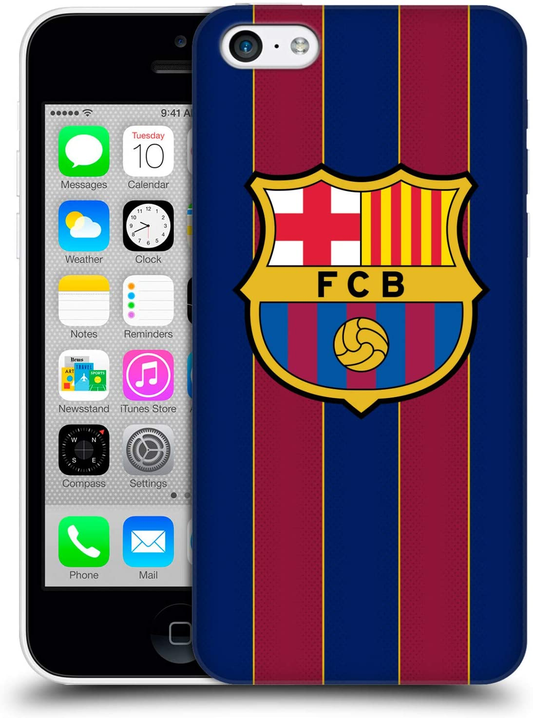 Head Case Designs Officially Licensed FC Barcelona Home 2020/21 Crest Kit Hard Back Case Compatible with Apple iPhone 5c