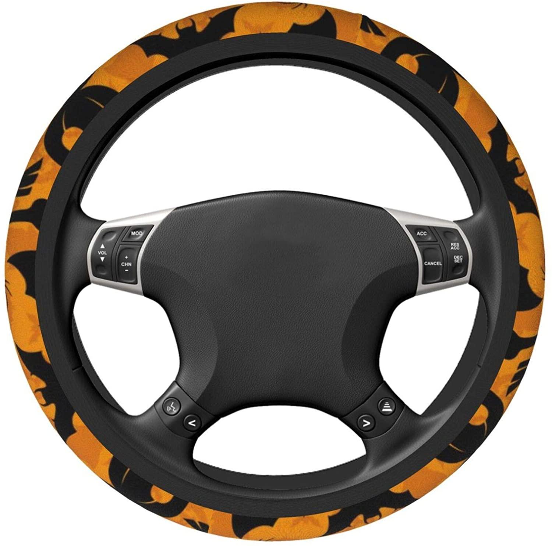 BEASDEN Car Steering Wheel Cover for Women Men, Universal Anti Slip Elastic Steering Cover Car Decoration - Personalized Pizza