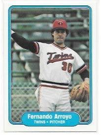 Fernando Arroyo 1982 Fleer Minnesota Twins Card #546