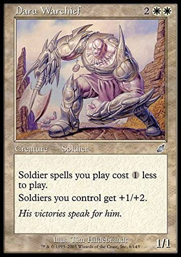 Magic: the Gathering - Daru Warchief - Scourge