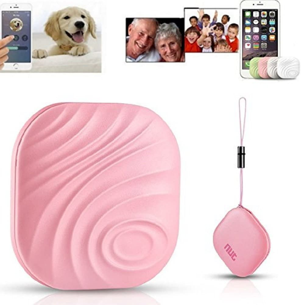 Nut Key Finder Phone Finder Anything Finder Anti-Lost Tag.Bluetooth Item Tracking Device to Find Car Keys Phone Wallet, Dogs.Remote Control, Luggage Keychain Locator (1PCS, Pink)