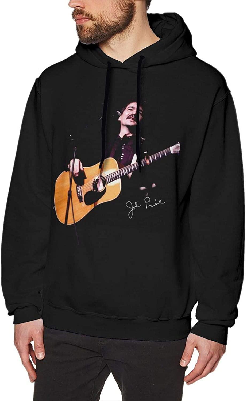 John Prine Fashionable Mens Pullover Fleece Hooded Sweatshirt