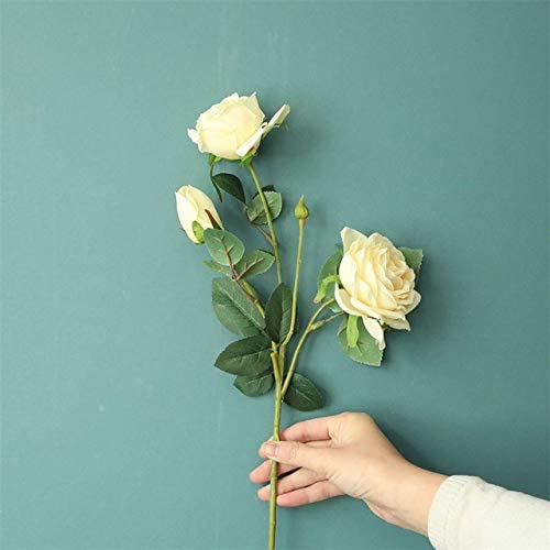 US Warehouse - Artificial & Dried Flowers - Artificial Fake Roses Flower Bridal Bouquet Wedding Party Home Decor Artificial Flowers Bouquet for Wedding Decoration Home - (Color: E)