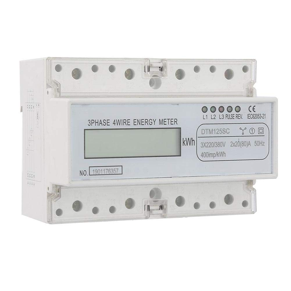 Simlug 220/380V 20-80A Energy Consumption Digital Electric Power Meter 3 Phase KWh Meter with LCD - Really Good Quality Products,Not A Pile of Garbage