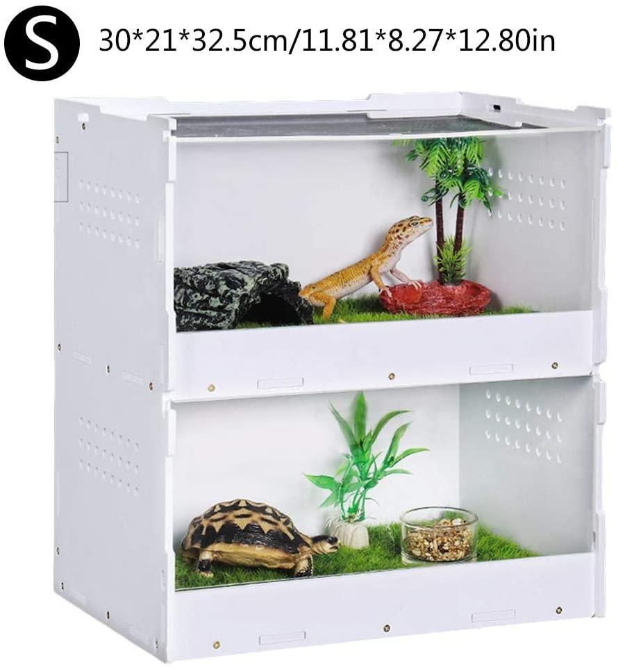 VAHIGCY Reptile Breeding Box, Acrylic Reptile Feeding Box,Transparent Reptile Breeding Box Climbing Pet Breeding Box, 201515cm