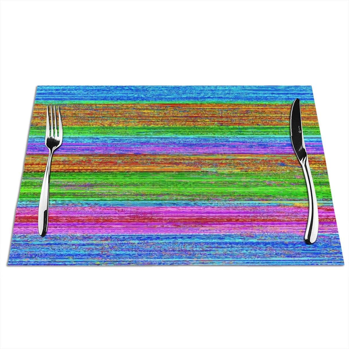 DianeDawson Placemats,Adult Zebra and Zebra Cub,Heat-Resistant Stain Resistant Anti-Skid Washable PVC Table Mats Woven Vinyl,Set of 1