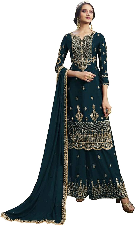 stylishfashion Designer Heavy Embroidered Work Indian Pakistani Wedding Reception Salwar Kameez Suit with Dupatta