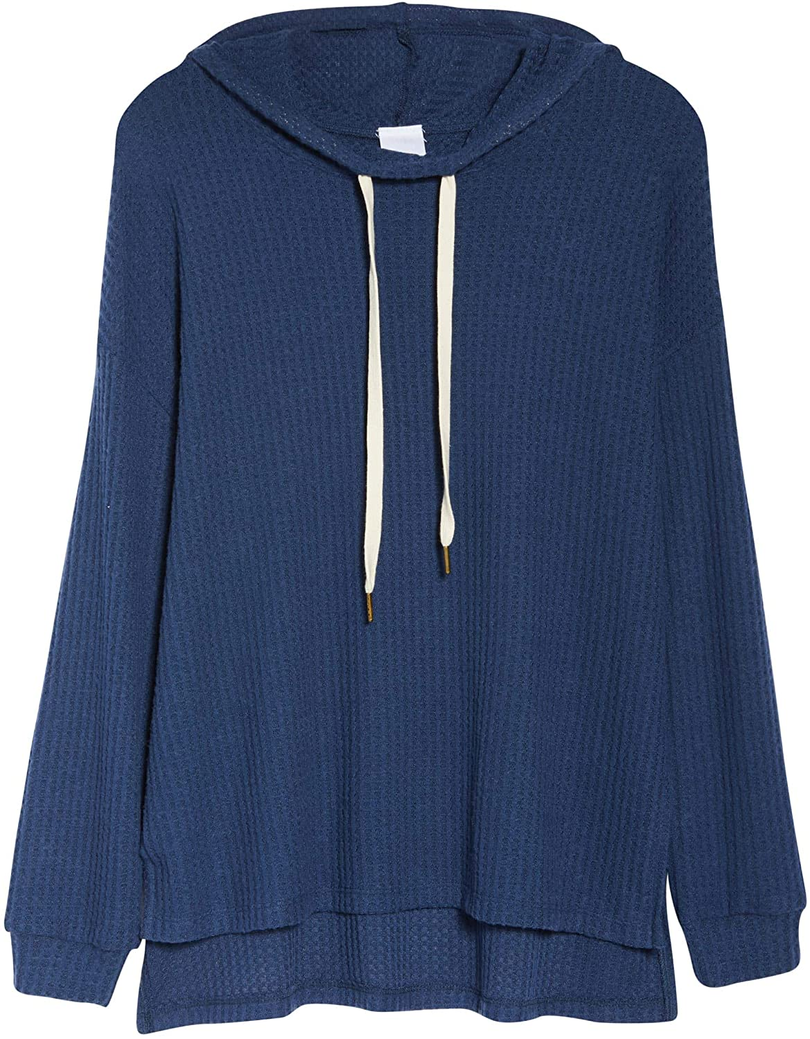 Project Social T Women's Waffle Knit Hooded Pullover - Size X-Small | Blue