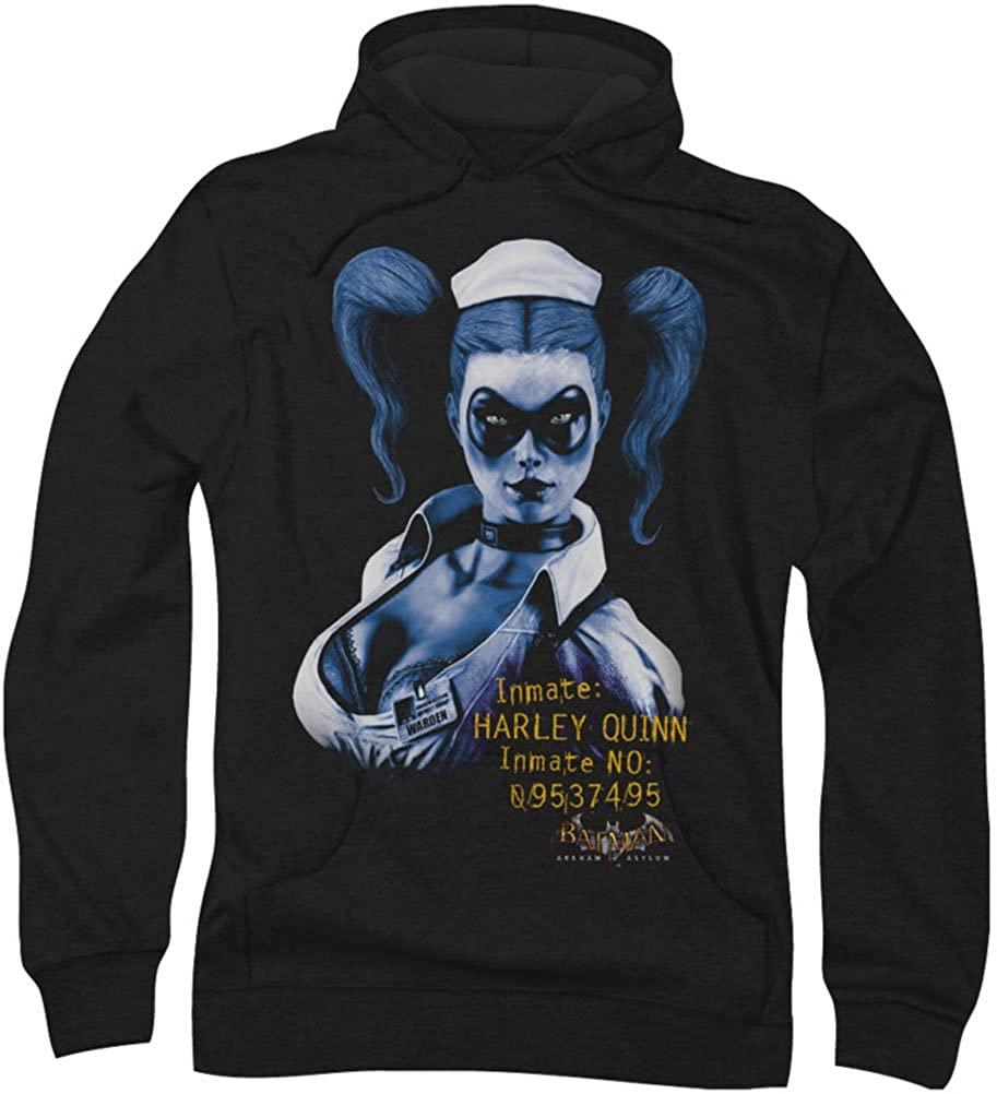 Batman - Mens Arkham Harley Quinn Hoodie, XX-Large, Black