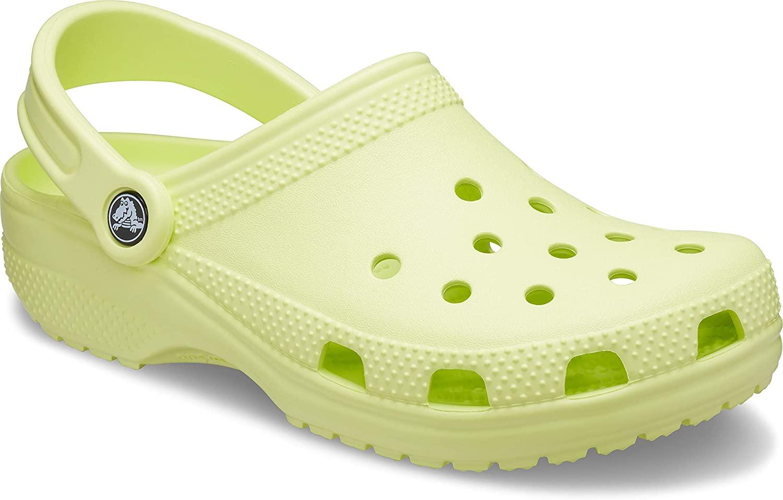 Crocs Classic Clog | Water Comfortable Slip on Shoes, Lime Zest, 9 Women/7 Men