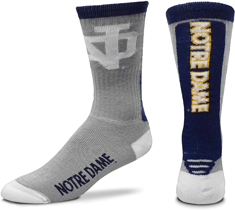 For Bare Feet NCAA Mens Cool Grey Jump Key Crew Socks