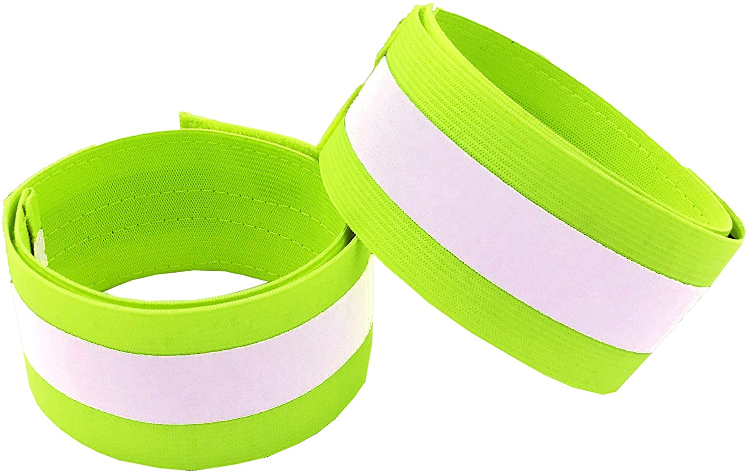 Reflective Bands for Arm, Wrist, Ankle, Leg. Reflector Bands. High Visibility Reflective Running Gear for Women and Men Cycling Walking Bike