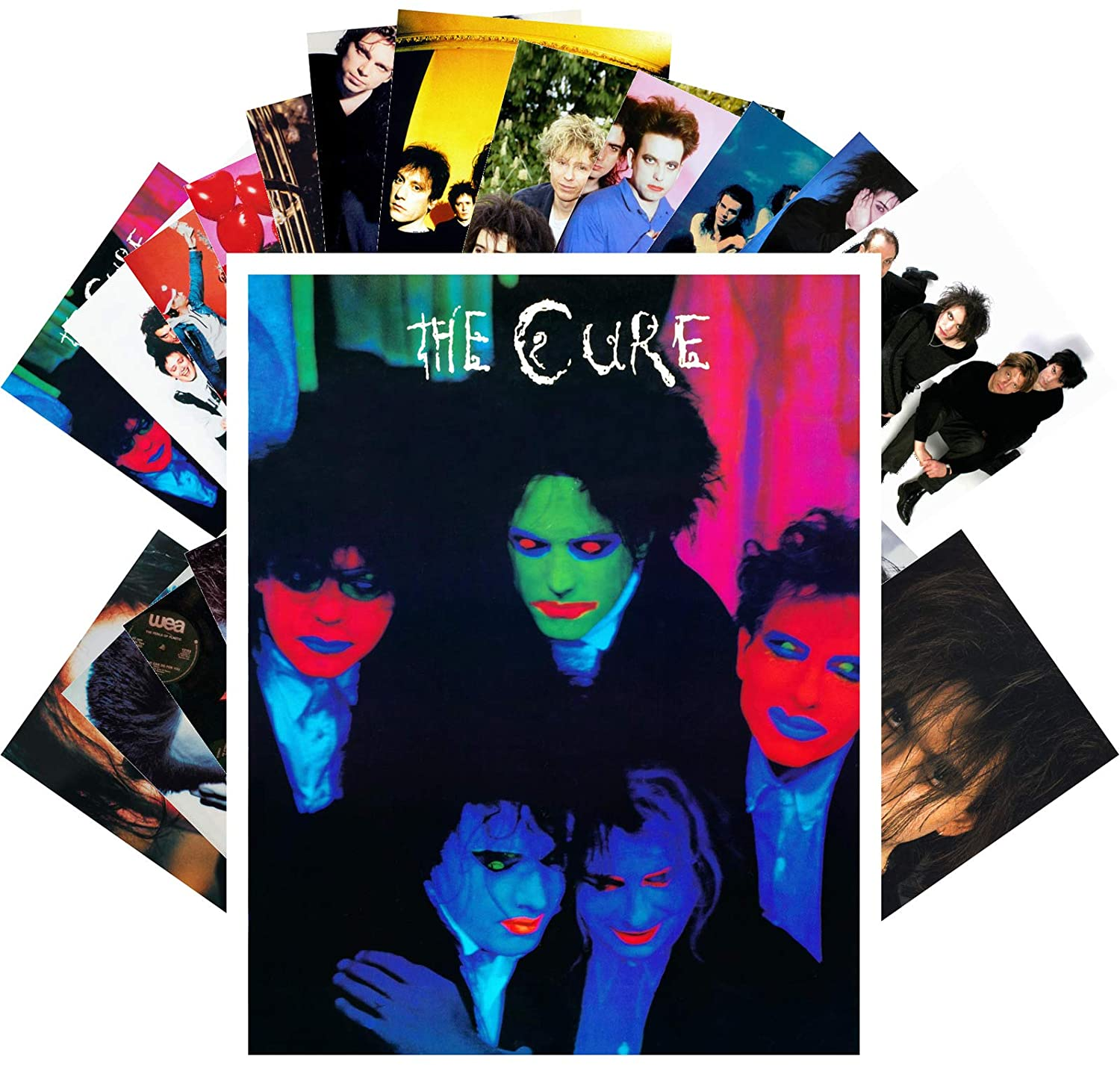 Postcard Set 24 cards THE CURE & ROBERT SMITH Posters Photos Vintage Magazine covers Rock Music