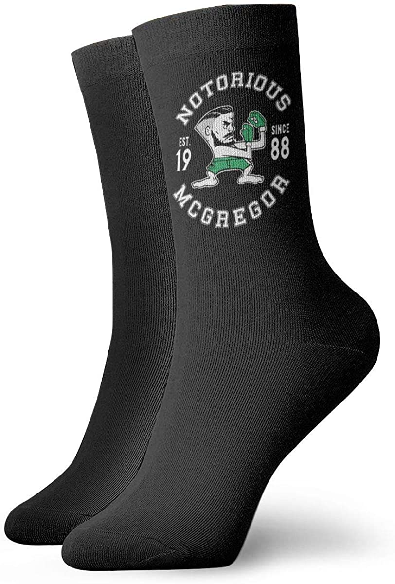 Gaohaifeng8 Conor Mcgregor Notorious Crew Socks Breathable Athletic Casual Socks For Unisex