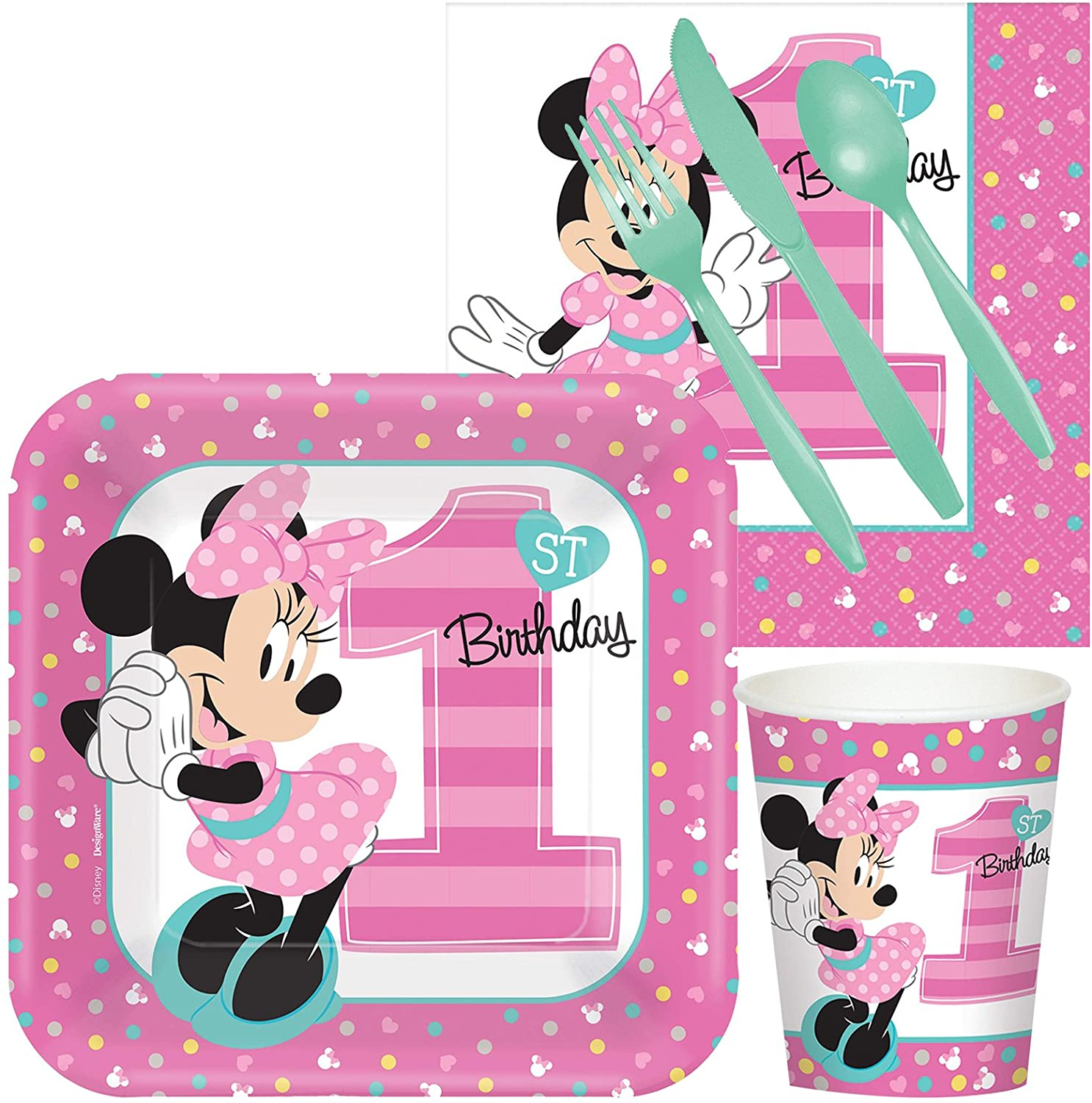 Disney Minnie Mouse 1st Birthday Party Supplies - Snack Pack