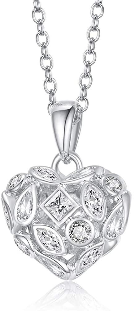 Italina Women Fashion Jewelry Necklace Heart Pendant Cubic Zircon Jewellery Gift for Women Girls