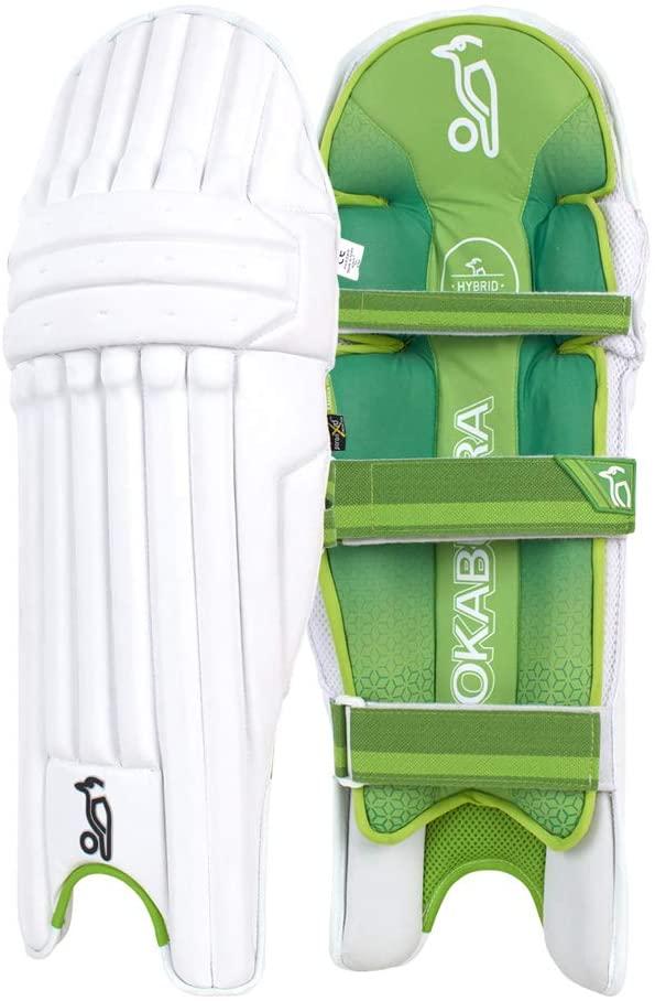 KOOKABURRA Unisex's 2020 Kahuna Pro Batting Pads (Small Adult Left Hand), White