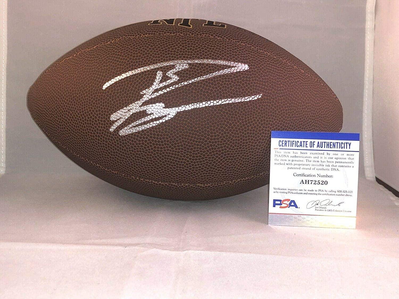 Russell Wilson Hand Signed NFL Wilson Football Seattle Seahawks PSA DNA - Autographed Footballs