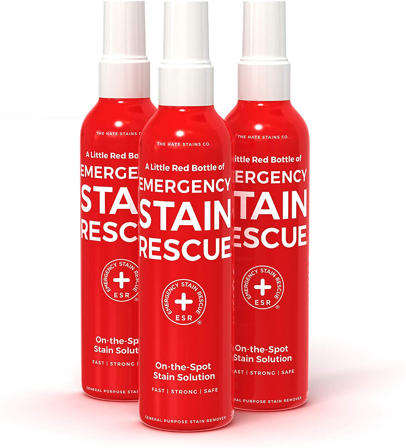 Emergency Stain Rescue Stain Remover – All Purpose Direct Spray For Carpet, Upholstery, Clothes, Add to Laundry. Works on Fresh & Old Organic or Inorganic Stains (120ml, 4 oz Spray Bottles) 3 Pack