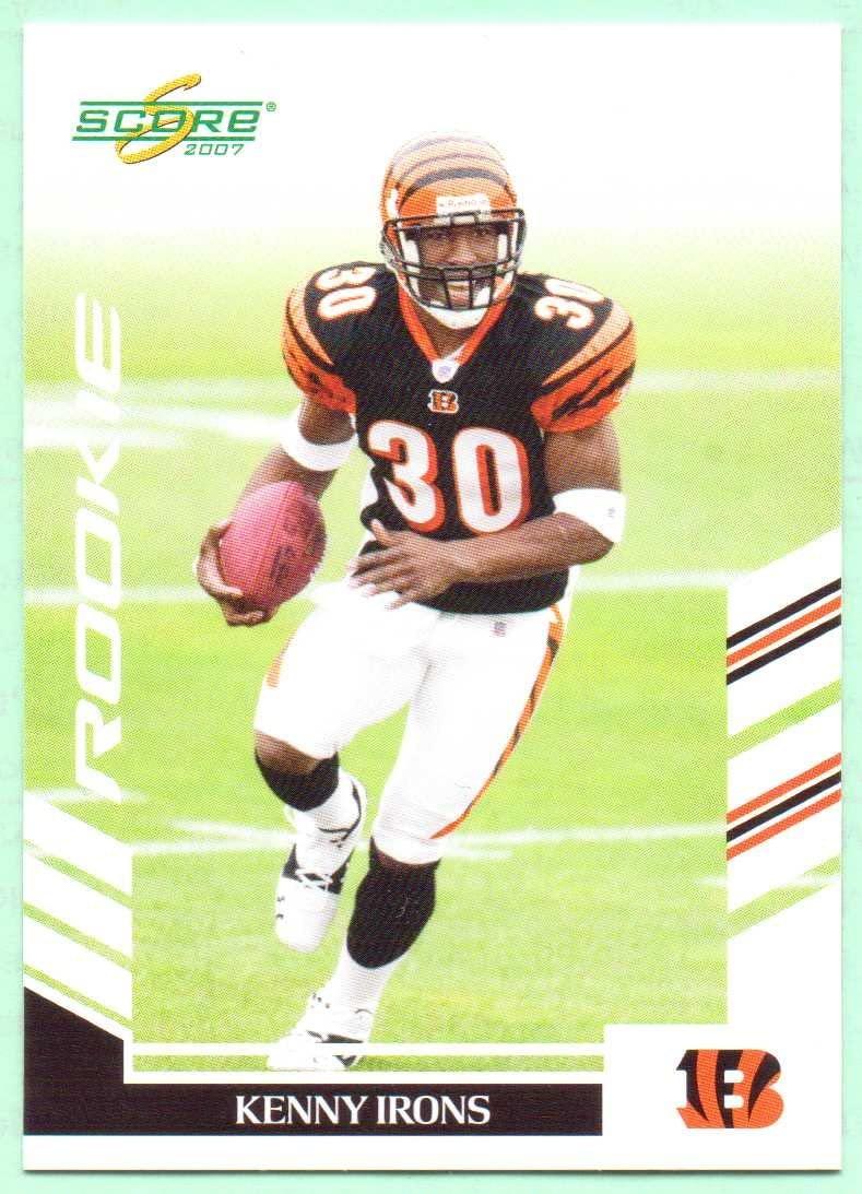 Kenny Irons 2007 Score Rookie #333 - Cincinnati Bengals