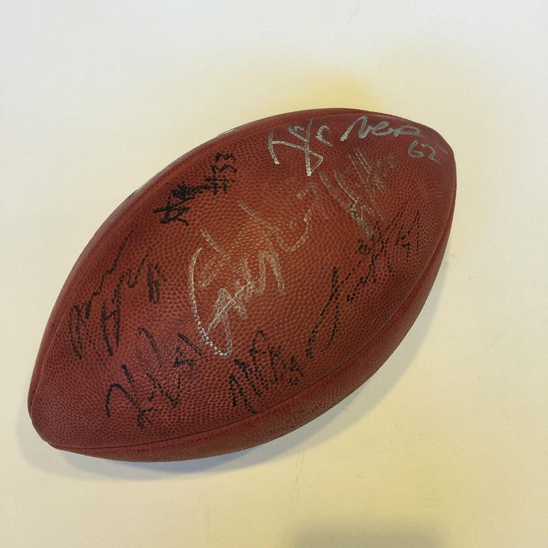 2012 Baltimore Ravens Champions Team Signed Wilson NFL Super Bowl Football - Autographed Footballs