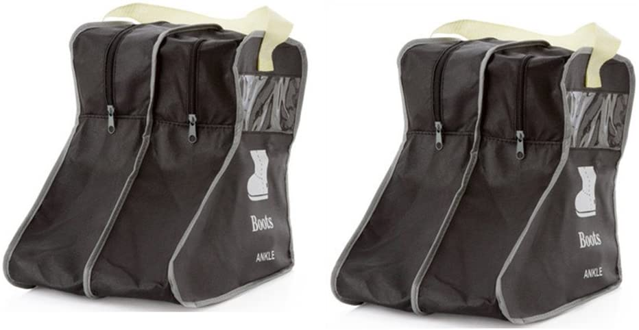 Nizzco Portable 2 Packs,Short Boots Storage/Protector Bag,Boots Cover(Black)