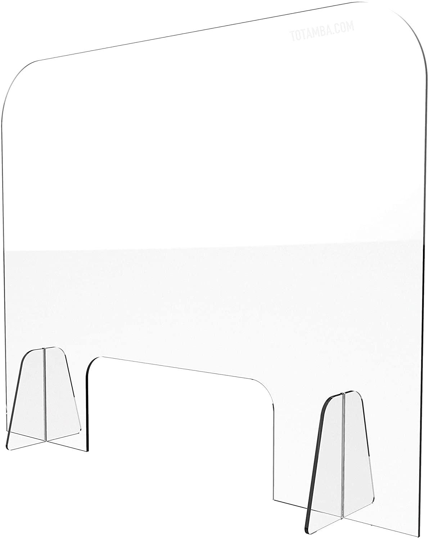 Plexiglass Sneeze & Cough Office Shield Barrier | Ultra Clear Acrylic | 30