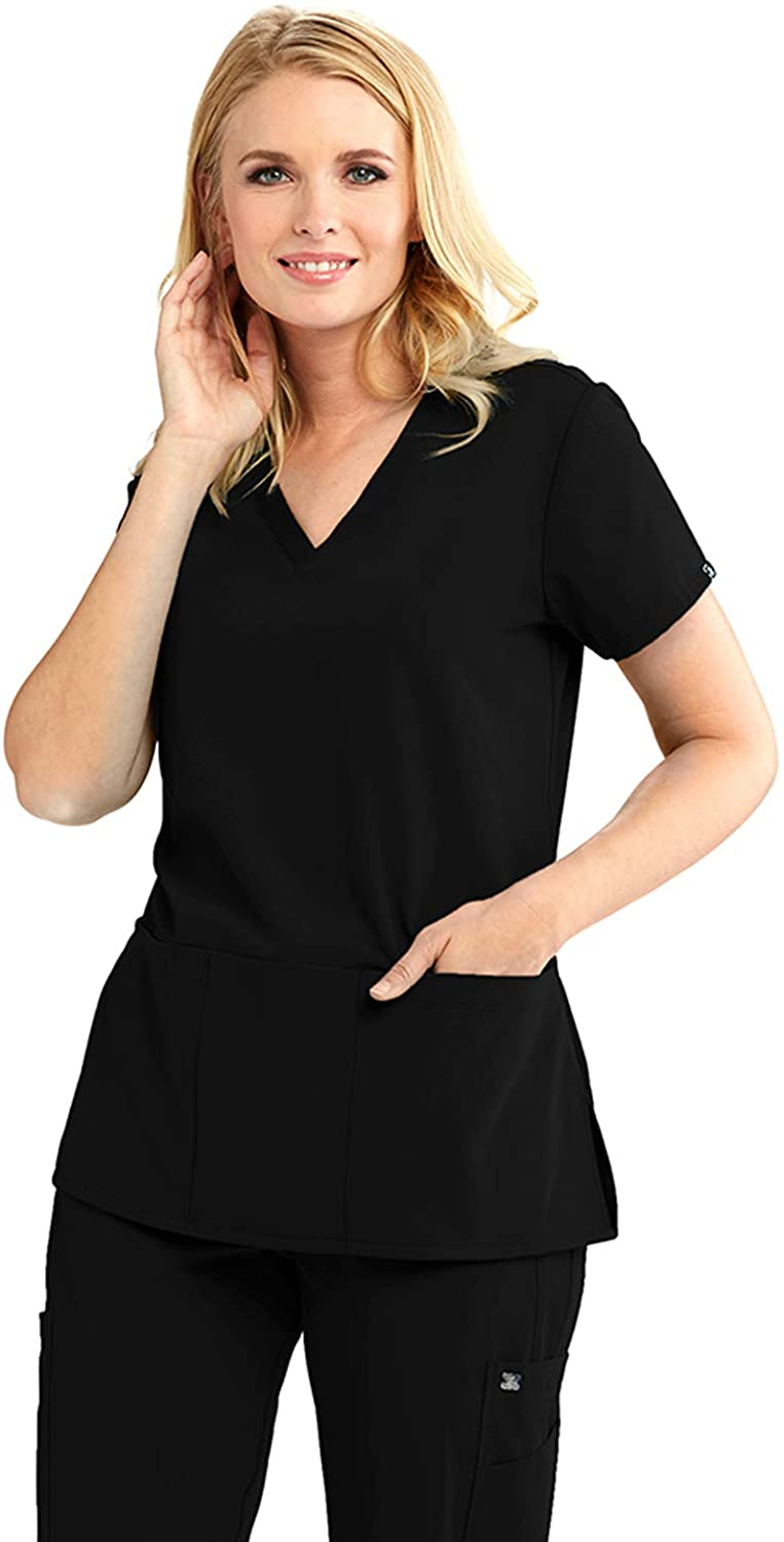 Grey's Anatomy Signature 3-Pocket Top for Women– Super-Soft Medical Scrub Top