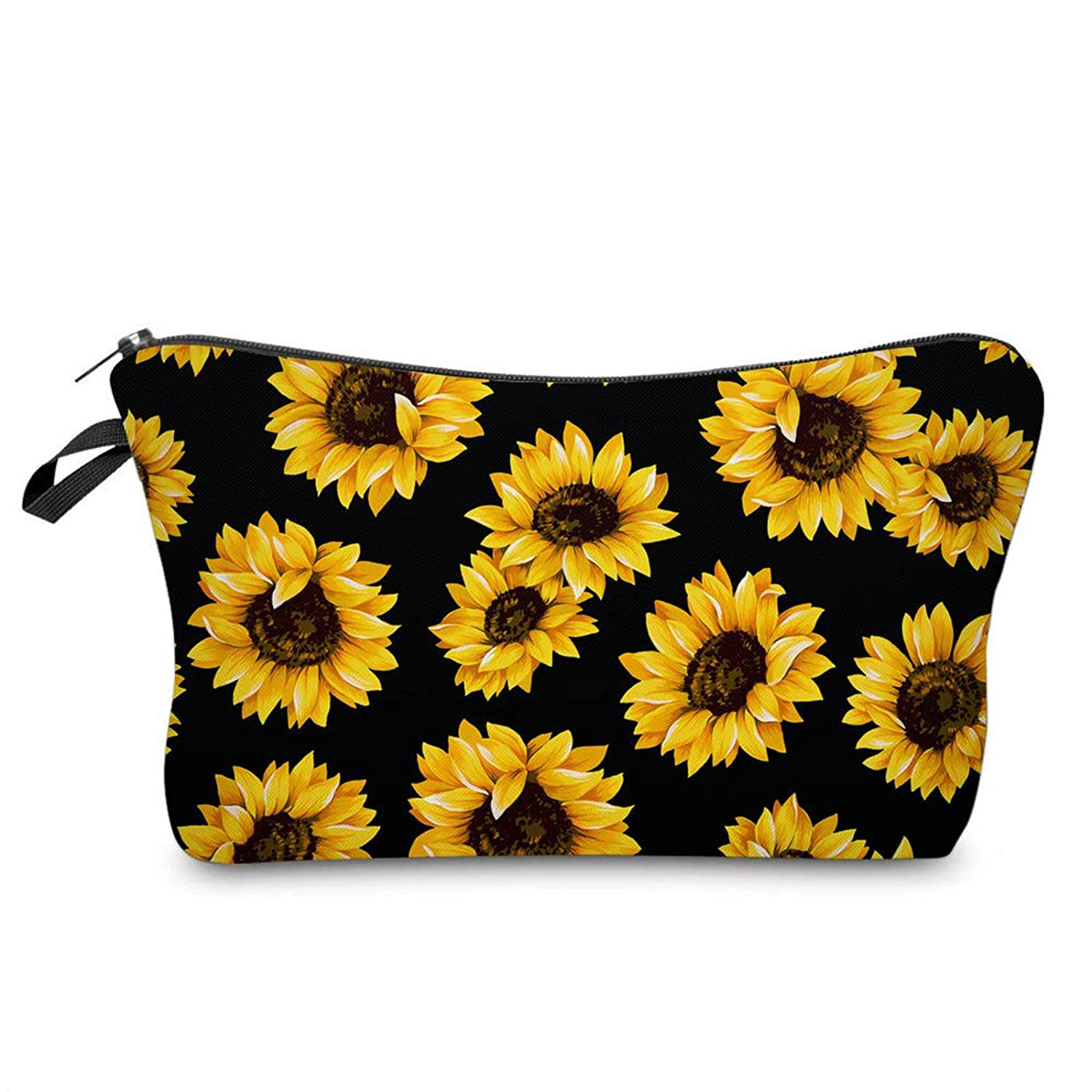 Sunflower Cosmetic Bag Sunflower Makeup Pouch Waterproof Toiletry Travel Makeup Organizer for Women