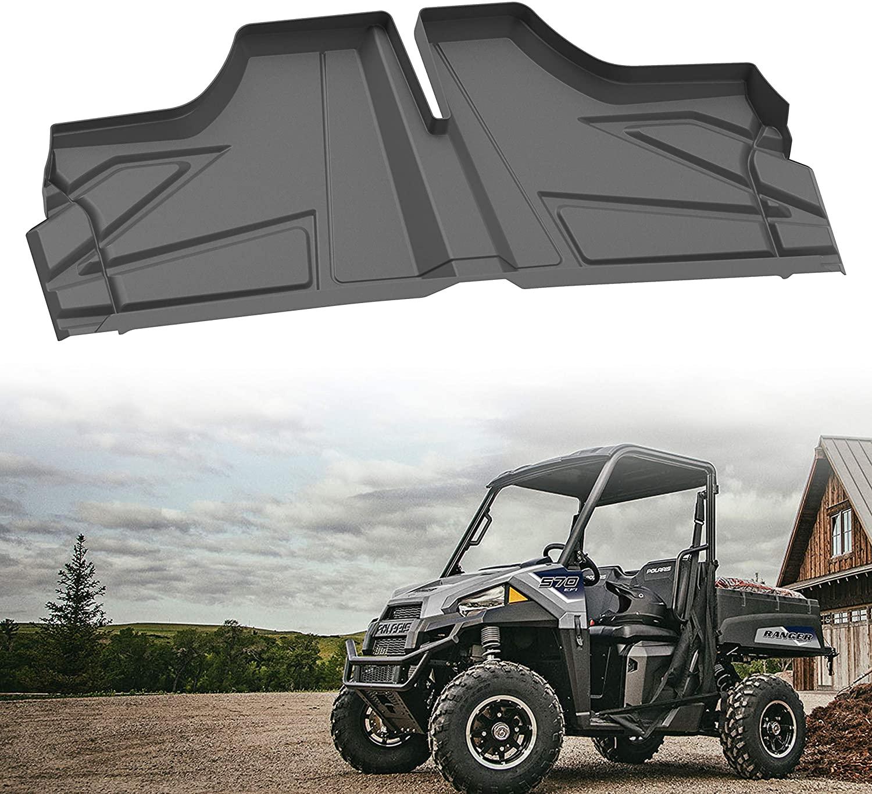 SAUTVS Ranger TPE Material Floor Mats, Front Row Floor Liners All Weather Protection Slush Mats for Polaris Ranger 400 570 800 Mid-Size 2015-2020