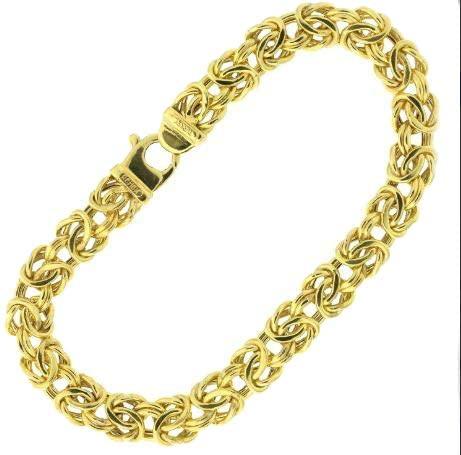10K Yellow Gold Byzantine Bracelet